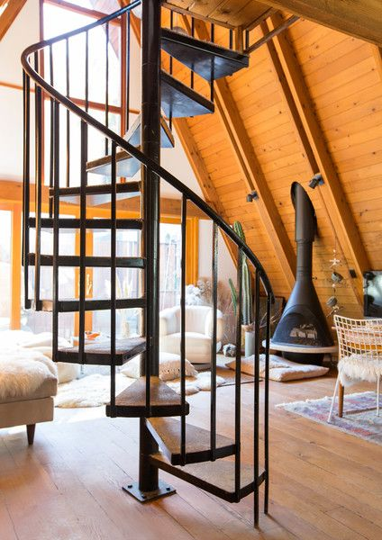 Spiraling Up - This Hollywood Hills A-Frame Home Is Magical - Photos