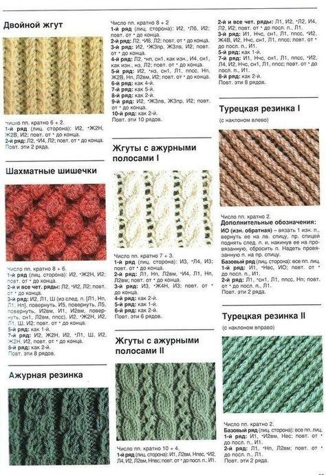 Способы вязание резинок спицами 166
