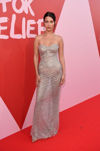 Bella Hadid attends the Fashion for Relief event during the 70th annual Cannes Film Festival.