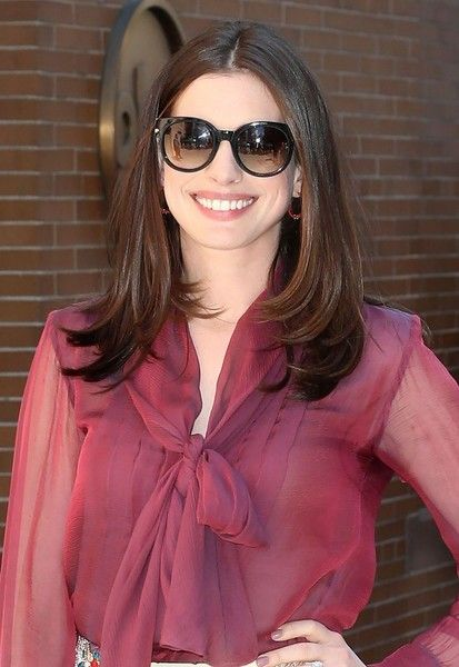 Anne Hathaway makes an appearance on 'The View' in New York City.