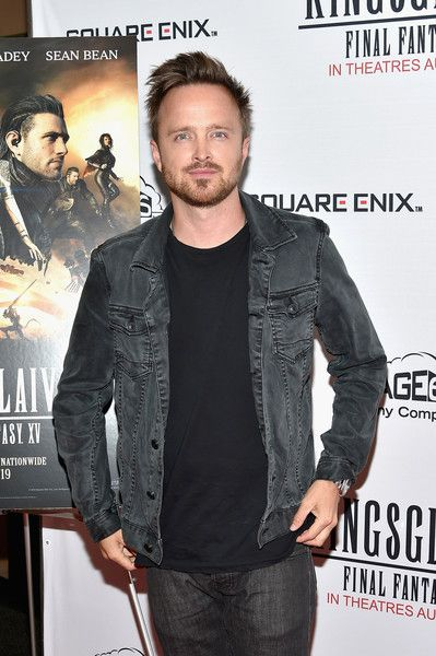 Actor Aaron Paul attends the 'Kingsglaive: Final Fantasy XV' New York Premiere at AMC Empire 25.