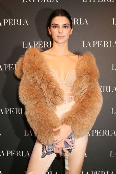 Kendall Jenner attends the La Perla MFW Collection's Presentation and Milan Store Opening.