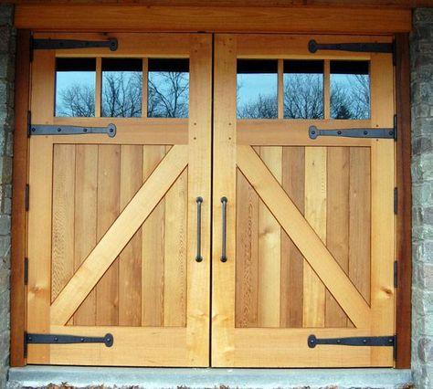 Деревянные ворота своими руками в гараже