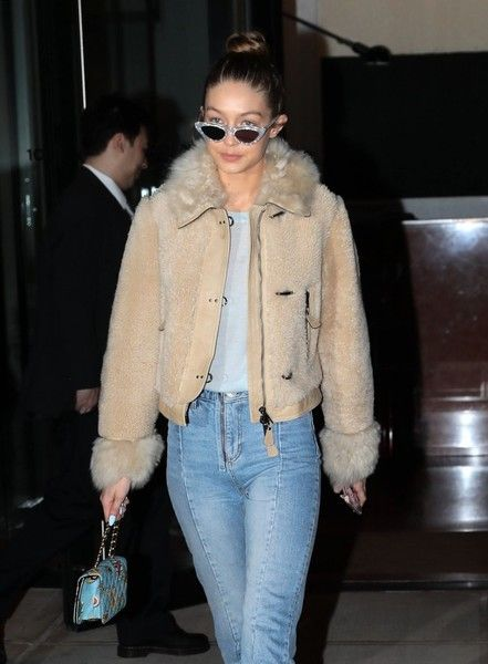 Model Gigi Hadid is seen leaving her apartment in New York City.