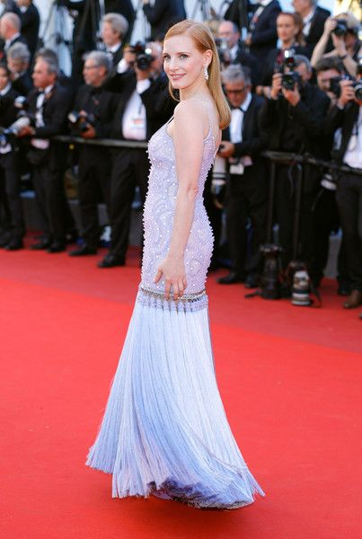 """Jury member Jessica Chastain attends the """"Okja"""" screening during the 70th annual Cannes Film Festival at Palais des Festivals on May 19, 2017 in Cannes, France."""