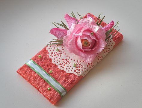 Красиво оформить подарок из конфет 54