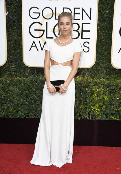 Sienna Miller - All the Stunning Looks from the 2017 Golden Globes - Photos