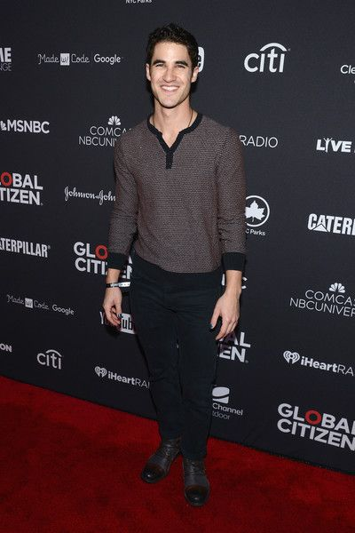 Actor Darren Criss attends the 2016 Global Citizen Festival In Central Park To End Extreme Poverty By 2030 at Central Park on September 24, 2016 in New York City.