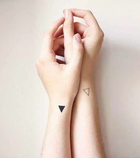 Triangular Energy Play - Delicate Minimalist Tattoos That Exude Understated Elegance - Photos