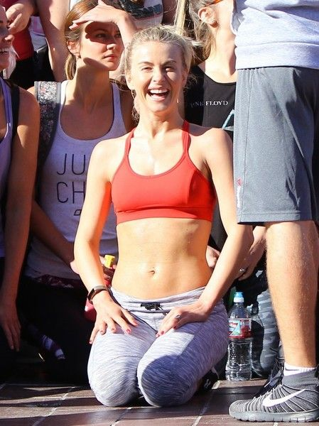 Brother and sister pro dancers Derek and Julianne Hough hold an exercise event called 'Move Interactive' in Sherman Oaks.