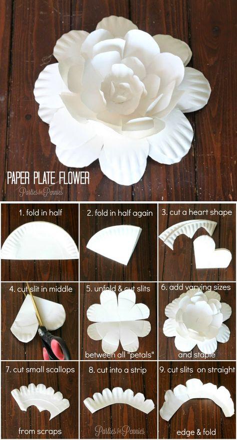 Как сделать простые цветы из бумаги 107