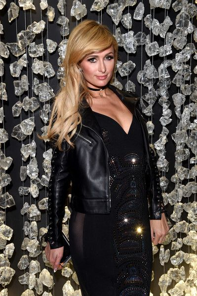 Paris Hilton attends the Philipp Plein Boutique Opening during Milan Men's Fashion Week Fall/Winter 2017/18.