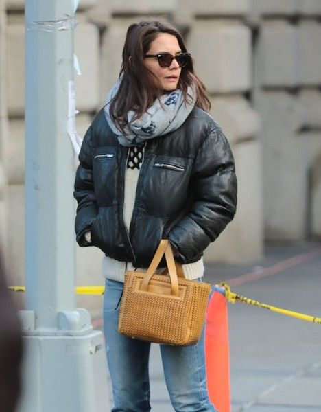 Actress and busy mom Katie Holmes is spotted out and about in New York City, New York on February 5, 2016. Missing from the outing was Katie's daughter Suri who she shares with actor Tom Cruise.