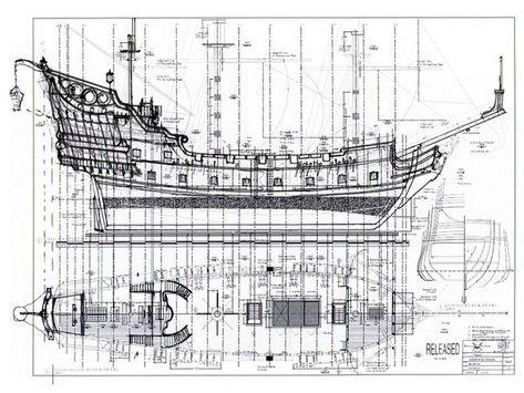 Чертежи пиратских кораблей своими руками 74