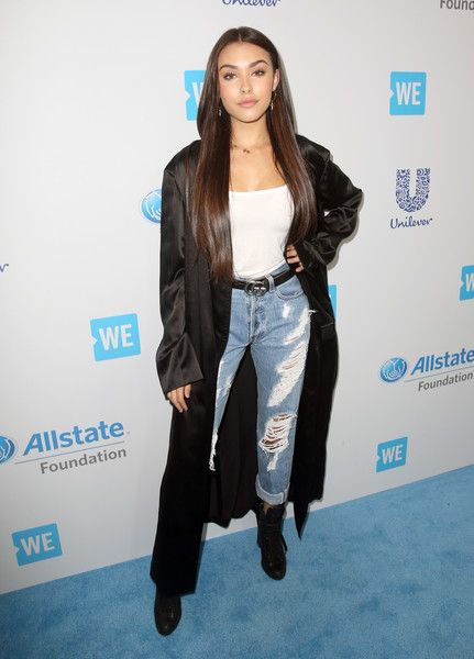 Singer Madison Beer attends WE Day California to celebrate young people changing the world at The Forum.
