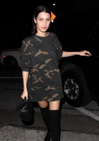 Bella Hadid dines at Craig's Restaurant with The Weeknd.