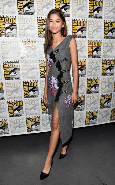 """Actress Zendaya from Marvel Studios'' 'Spider-Man: Homecoming""""' attends the San Diego Comic-Con."""