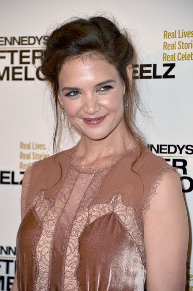 Actor Katie Holmes attends the premiere of Reelz's 'The Kennedys After Camelot.'