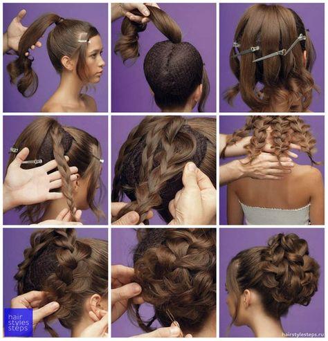 Прическа на средние волосы своими руками в домашних условиях на свадьбу 4
