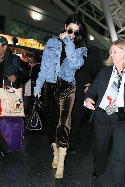 Kendall Jenner is seen at JFK on January 12, 2017.