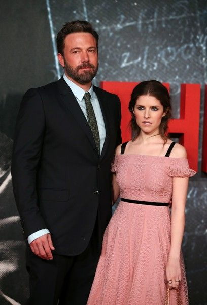 US actress Anna Kendrick and US actor Ben Affleck pose for photographers on the red carpet as they arrive for the European Premiere of the film 'The Accountant' in London.