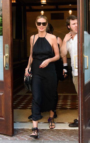 Heidi Klum is seen leaving her hotel on June 22, 2016.