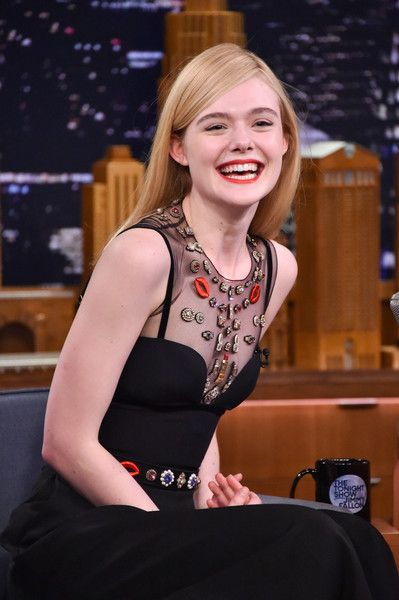 Elle Fanning visits 'The Tonight Show Starring Jimmy Fallon.'