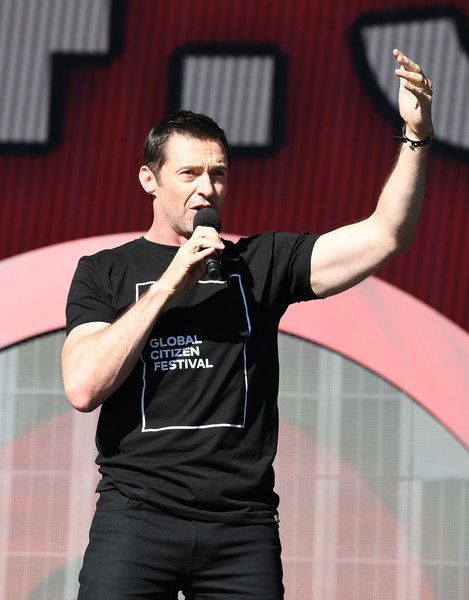 Host Hugh Jackman speaks onstage at the 2016 Global Citizen Festival in Central Park to end extreme poverty by 2030 at Central Park on September 24, 2016 in New York City. / AFP / ANGELA WEISS