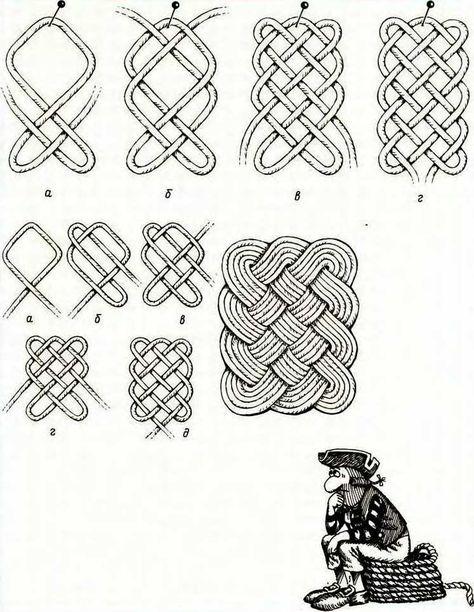 Узоры своими руками из веревок ниток 45