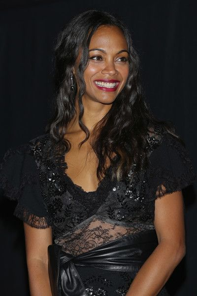 Actress Zoe Saldana attends the premiere of the Paramount Pictures title 'Star Trek Beyond.'