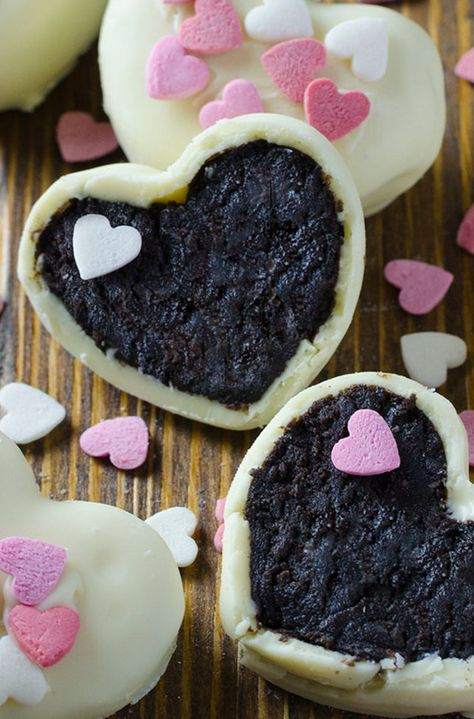 Valentine's Day Sweets That Will Melt Your Heart   Oreo Truffle Hearts