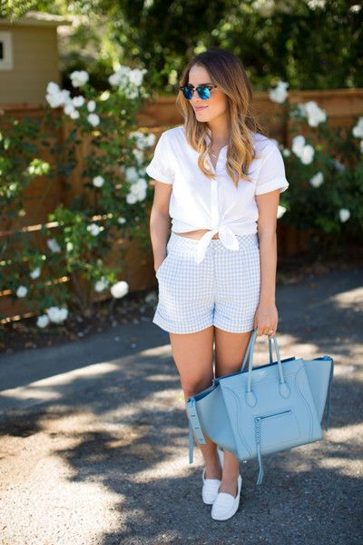 Darling Gingham Outfit Ideas | Summer Shorts