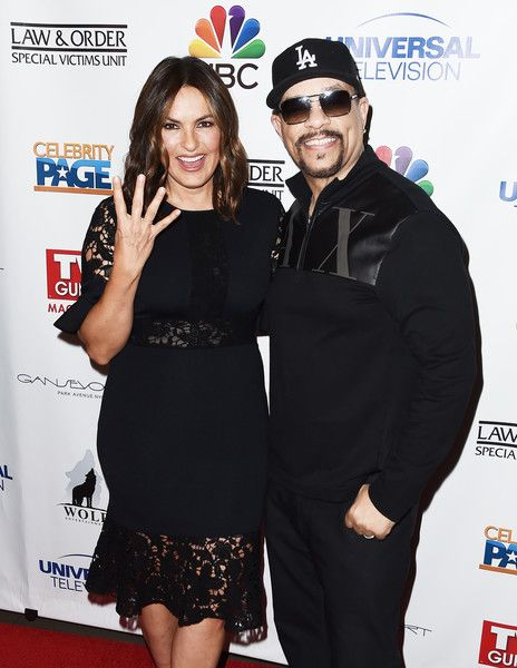 Actors Mariska Hargitay and Ice-T attend as TV Guide Celebrates Mariska.