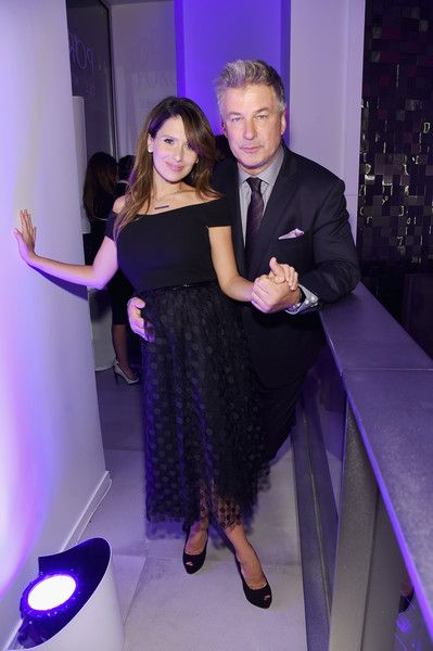 Hilaria Baldwin and Alec Baldwin attend the HOLA! USA launch hosted by Alec & Hilaria Baldwin at Porcelanosa on September 29, 2016 in New York City.