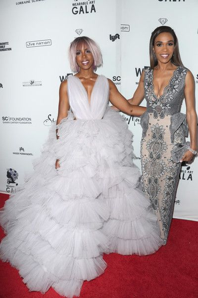 Kelly Rowland and Michelle Williams attend the Wearable Art Gala.