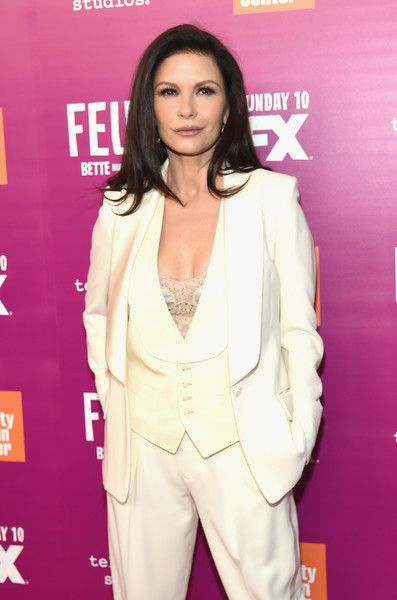 Catherine Zeta-Jones attends the 'Feud: Bette and Joan' NYC Event.