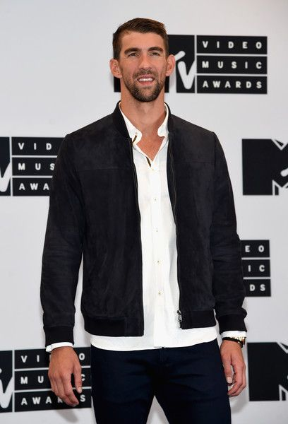 Michael Phelps attends the Press Room at the 2016 MTV Video Music Awards.