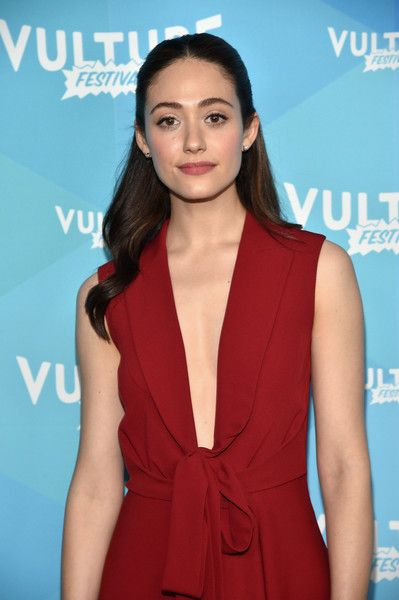 Actress Emmy Rossum attends the 'Shameless' panel during the 2017 Vulture Festival.