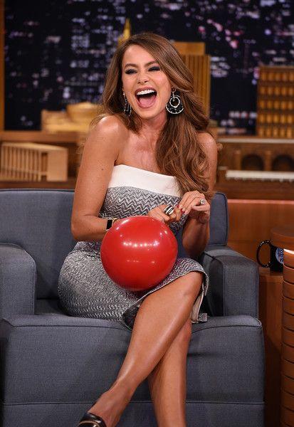 Sofia Vergara Visits 'The Tonight Show Starring Jimmy Fallon' at Rockefeller Center.