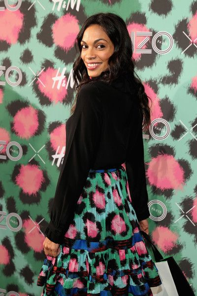 Rosario Dawson attends the KENZO x H&M Launch Event Directed by Jean-Paul Goude.