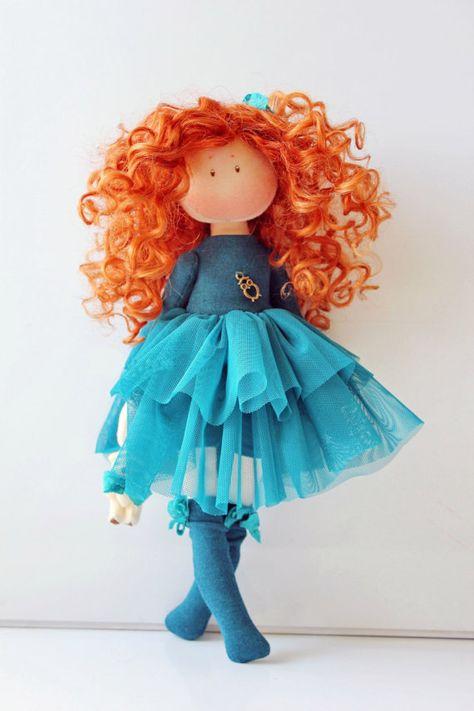 Fabric Tilda Doll Rag Doll Handmade Doll Nursery Doll Pink Doll Cloth Doll Baby Doll Textile Doll Collection Doll Interior Doll by Elvira