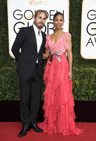 Zoe Saldana and Marco Perego - The Cutest Couples at the 2017 Golden Globes - Photos