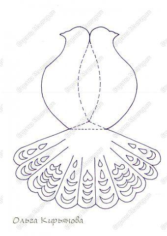 Шаблоны объемного голубя из бумаги своими руками 90