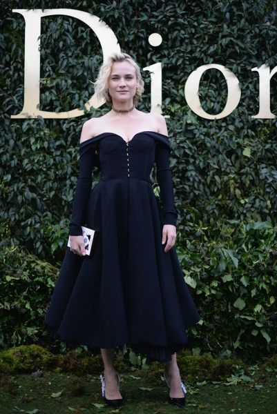 Diane Kruger attends the Christian Dior Haute Couture Spring Summer 2017 show as part of Paris Fashion Week at Musee Rodin on January 23, 2017 in Paris, France.