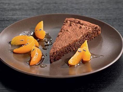 Tarte au chocolat aux abricots au miel et à la lavande cuite en 10minutes