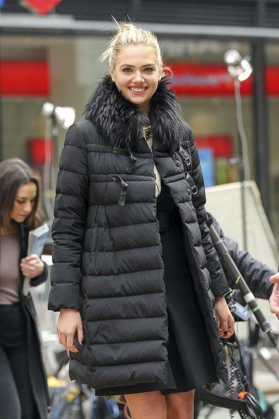 Kate Upton has a big smile on her face while spotted out in New York, NY on February 8, 2017. The supermodel had a good reason to smile, as she will be appearing on the cover of 'Sports Illustrated' for the third time.