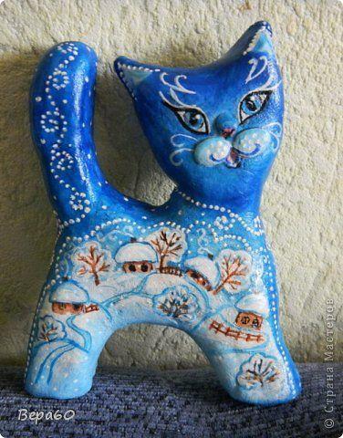 Кошка статуэтка соленое тесто своими руками