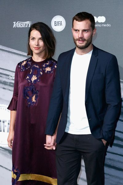 Amelia Warner and Jamie Dornan attend The British Independent Film Awards.
