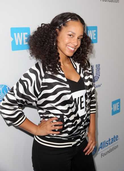 Singer Alicia Keys attends WE Day California to celebrate young people changing the world at The Forum.