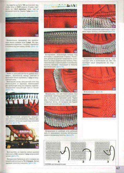 Частичное вязание на вязальной машине сильвер ред